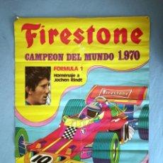 Carteles Publicitarios: FIRESTONE PÓSTER CARTEL CAMPEÓN DEL MUNDO 1970. Lote 272300168