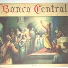 Carteles Publicitarios: CARTEL PUBLICITARIO BANCO CENTRAL -- LA SANGRE DE CRISTO. Lote 235315230