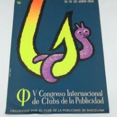 Carteles Publicitarios: CARTEL DE JOSEP ARTIGAS PARA EL V CONGRESO CLUBS DE PUBLICIDAD 1954. Lote 235392290