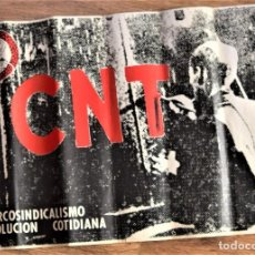 Carteles Publicitarios: CARTEL DE LA TRANSICIÓN DE LA CNT - ANARCOSINDICALISMO REVOLUCIÓN COTIDIANA - 55,5 X 37,5 CM. Lote 237794600