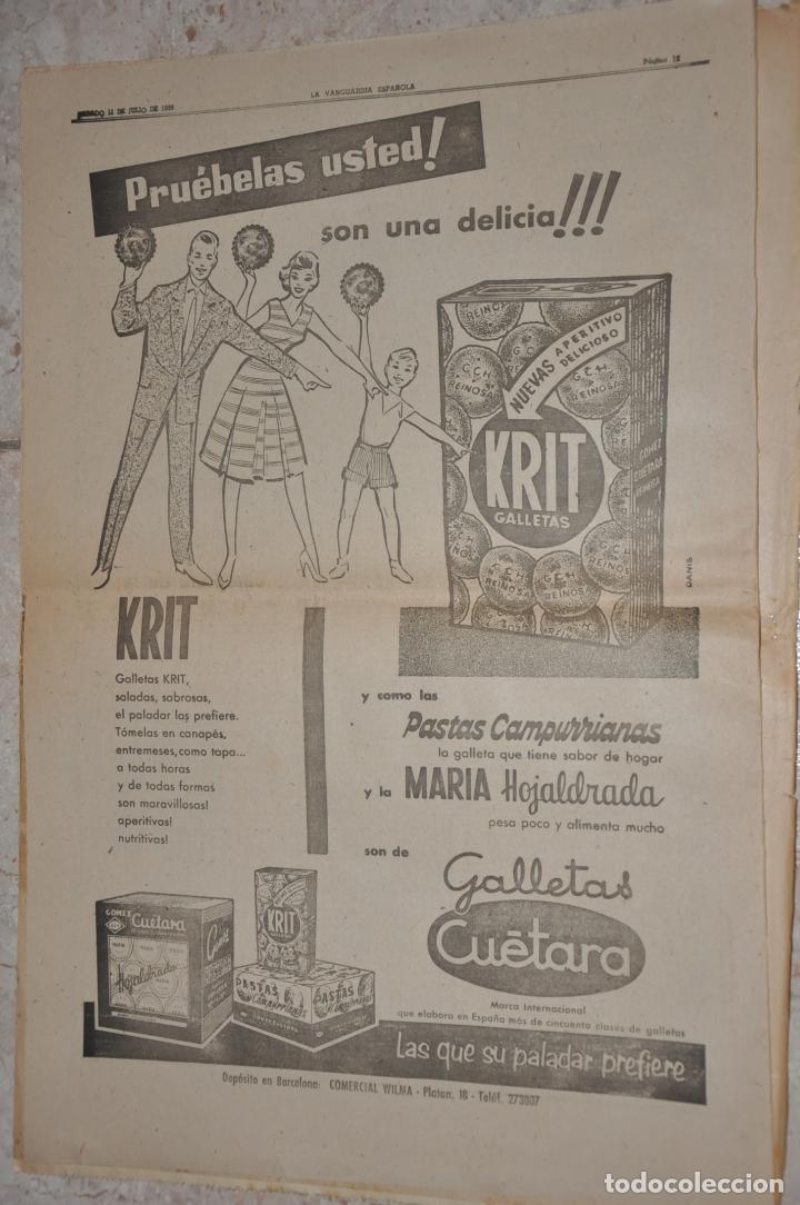 HOJA PUBLICIDAD LA VANGUARDIA 1959, GALLETAS KRIT CUETARA (Coleccionismo - Carteles Gran Formato - Carteles Publicitarios)