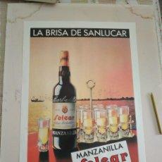 Carteles Publicitarios: CARTEL MANZANILLA SOLEAR BARBADILLO DE SANLUCAR. Lote 242123110