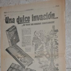 Carteles Publicitarios: HOJA PUBLICIDAD LA VANGUARDIA 1967, CHOCOLATES OLLE. Lote 242372635