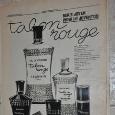 Carteles Publicitarios: HOJA PUBLICIDAD LA VANGUARDIA 1970, LEGRAIN PARIS. Lote 242372930