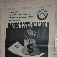 Carteles Publicitarios: HOJA PUBLICIDAD LA VANGUARDIA 1966, BANCO TOTTA ALIANÇA, PORTUGAL. Lote 242373145