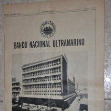 Carteles Publicitarios: HOJA PUBLICIDAD LA VANGUARDIA 1966, BANCO NACIONAL ULTRAMARINO, PORTUGAL. Lote 242373325