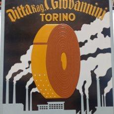 Carteles Publicitarios: CARTEL PUBLICIDAD DITTA RAG. C. GIOVANNINI, TORINO 30X45 CM. CARTON GRUESO EN RELIEVE. Lote 243824210