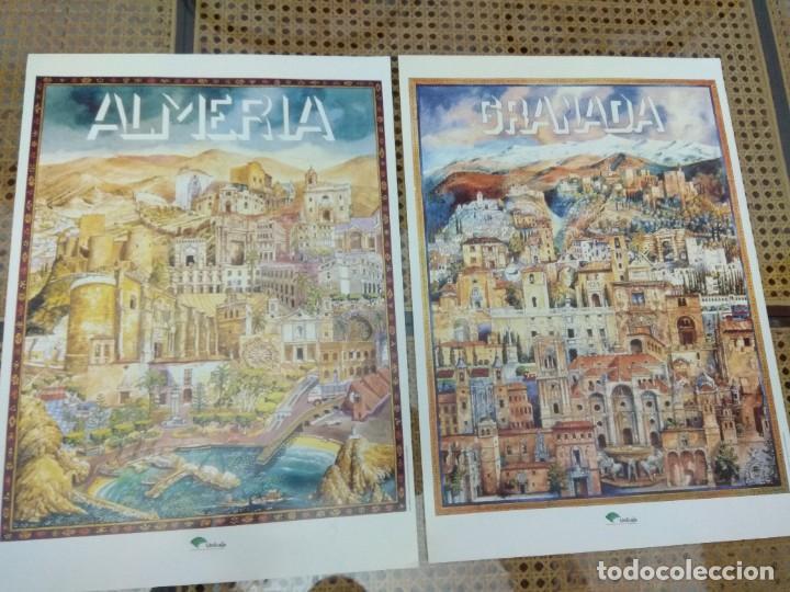 Carteles Publicitarios: LOTE 8 CARTELES PROVINCIAS DE ANDALUCIA GRAN FORMATO 46X34 - Foto 3 - 270675178