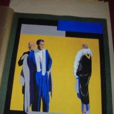 Carteles Publicitarios: MAGNIFICO ANTIGUO CARTEL MAQUETA DIBUJO ART DECO ORIGINAL PARA TIENDA DE ROPA DE LOS AÑOS 1920. Lote 247093735