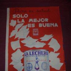 Carteles Publicitarios: MAGNIFICO ANTIGUO CARTEL MAQUETA DIBUJO ORIGINAL LA LECHERA NESTLE DE LOS AÑOS 60. Lote 249299305