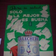Carteles Publicitarios: MAGNIFICO ANTIGUO CARTEL MAQUETA DIBUJO ORIGINAL LA LECHERA NESTLE DE LOS AÑOS 60. Lote 249299470