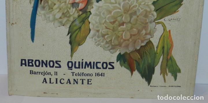 Carteles Publicitarios: CARTEL DE PUBLICIDAD DE JOSE FORNES MAS, ABONOS QUIMICOS, ALICANTE, ILUISTRADO POR GASPAR CAMPS, MOD - Foto 3 - 253597470