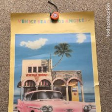 Carteles Publicitarios: CARTEL VENICE BEACH LOS ANGELES LONDON 1986 WS GRANDISON PRINTED IN ENGLAND 90X60CMS. Lote 264169524