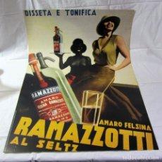 Affiches Publicitaires: CARTEL AMARO FELSINA RAMAZZOTTI AL SELTZ EN CARTULINA 69 X 98,5 CM. Lote 265992593