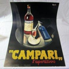 Affiches Publicitaires: CARTEL CAMPARI LAPERITIVO EN CARTULINA 69 X 98,5 CM. Lote 265992688