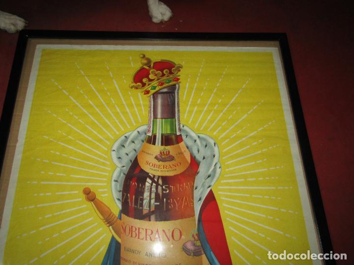 Carteles Publicitarios: Antiguo Cartel Publicitario de Brandy SOBERANO de Gonzáles Byass en Jerez - Foto 5 - 269398183