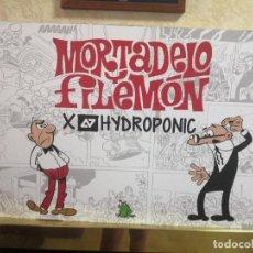 Carteles Publicitarios: CARTEL PUBLICITARIO MORTADELO Y FILEMON HYDROPONIC MEDIDAS 69 CM X 49 CM. Lote 270346213