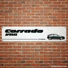 Affiches Publicitaires: VW CORRADO VR6 BANNER PVC VINTAGE PANCARTA BANDERA DECORACIÓN GARAJE TALLER 1300X300MM. Lote 271936218