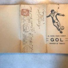 Affiches Publicitaires: SOBRE CARTA CON PUBLICIDAD PAPEL FUMAR GOL. TIMBRADA EN 1934. Lote 275582998