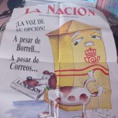 Carteles Publicitarios: CARTEL PUBLICIDAD PERIODICO LA NACIÓN, COMO NUEVO. REF. UR MES. Lote 277261133