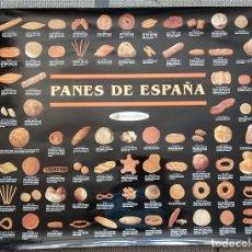 Carteles Publicitarios: GRAN POSTER CARTEL PANES DE ESPAÑA. EXCLUSIVO PANADERÍAS.. Lote 277828123