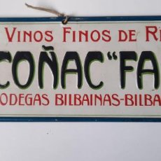Carteles Publicitarios: CARTEL CARTÓN COGNAC FARO AÑOS 40 34,5X11,5. Lote 282555978