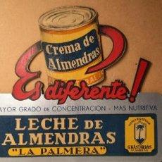 Carteles Publicitarios: DISPLAY TROQUELADO LECHE DE ALMENDRAS LA PALMERA (G.BASTARDOS, MANRESA). Lote 283094213
