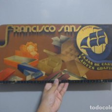 Carteles Publicitarios: ANTIGUO CARTEL DE PUBLICIDAD DE FRANCISCO SANS DE BARCELONA, FABRICANTE CAJAS DE CARTON, ORIGINAL. Lote 283733638