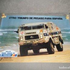 Affissi Pubblicitari: CARTEL - POSTER DE CAMIÓN PEGASO RALLYE PARÍS - DAKAR 86.. Lote 284182653