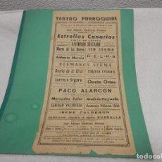Cartazes Publicitários: CARTEL PUBLICITARIO, TEATRO PARROQUIAL, 1958, MURCIA, ORIGINAL, 42 X 21 CM. Lote 285174643
