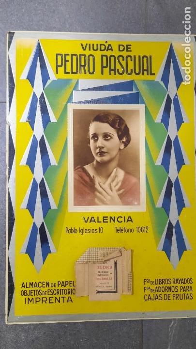 CARTEL FABRICA DE PAPEL VIUDA DE PEDRO PASCUAL 1937 IMPRENTA (Coleccionismo - Carteles Gran Formato - Carteles Publicitarios)