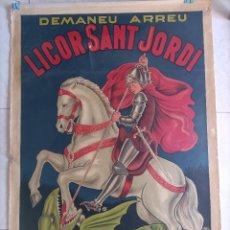 Carteles Publicitarios: LICOR SANT JORDI LITOGRAFIA HORTA. Lote 288487878