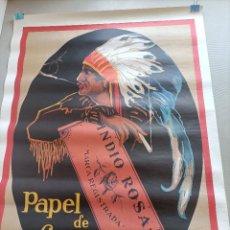 Carteles Publicitarios: PAPEL DE FUMAR INDIO ROSA. Lote 288676048