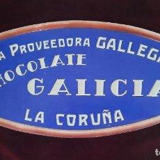 Carteles Publicitarios: LA CORUÑA - CHOCOLATES LA PROOVEDORA GALLEGA - IMPECABLE CARTEL PUBLICITARIO EN RELIEVE -CARTÓN DURO. Lote 289556203