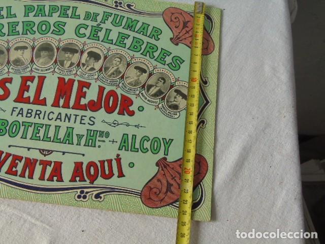 Carteles Publicitarios: CARTEL PUBLICIDAD PAPEL DE FUMAR TOREROS CELEBRES MIGUEL BOTELLA ALCOY ALCOI - Foto 6 - 289731838