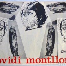 Carteles Publicitarios: OVIDI MONTLLOR. 1970. 67X100 CM. Lote 290062758