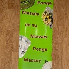 Carteles Publicitarios: CARTEL PLASTIFICADO DE TRACTORES MASSEY FERGUSON. Lote 291348143