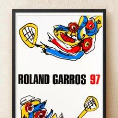 Carteles Publicitarios: ANTONIO SAURA CATEL DE ROLAND GARROS 1997, LITOGRAFÍA OFFSET COLORES,CATALOGADO 57X75CM. Lote 294509408