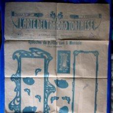 Carteles Publicitarios: CARTEL L'ARTE DEL TRASFORO TORINESE. CARLO AMATI. ARTE DE TROQUELAR EN MADERA, MARFIL, METAL... 1908. Lote 295331458