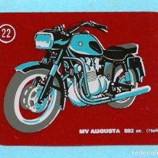 Carteles Publicitarios: MOTOS MODERNAS. Nº 22. MV AUGUSTA. CROPAN, 1970'S.. Lote 295613898