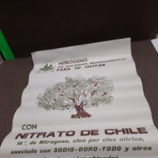 Carteles Publicitarios: CARTEL DE PUBLICIDAD DE NITRATO DE CHILE...1966...... Lote 295796158