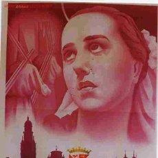 Carteles de Semana Santa: CARTEL SEMANA SANTA MURCIA 1953 , MEDIANO A CARBONELL LITOGRAFIA ORIGINAL PL. Lote 25579533