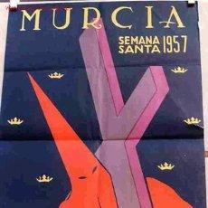 Carteles de Semana Santa: CARTEL SEMANA SANTA MURCIA PEQUEÑO 1957. Lote 25884786