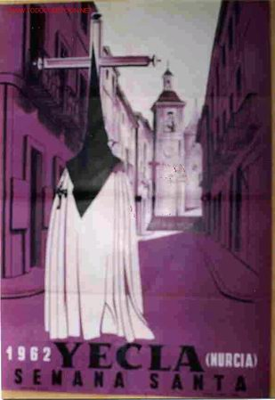 CARTEL SEMANA SANTA YECLA 1962 (Coleccionismo - Carteles Gran Formato - Carteles Semana Santa)