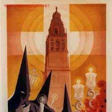 Carteles de Semana Santa: CARTEL CORDOBA SEMANA SANTA 1955 LITOGRAFIA ORIGINAL PL. Lote 25905506