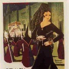 Carteles de Semana Santa: CARTEL CORDOBA 1957 SEMANA SANTA , ORIGINAL , ILUSTRADO POR RICARDO ANAYA. Lote 205594545