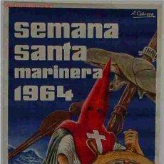 Carteles de Semana Santa: CARTEL SEMANA SANTA DE VALENCIA 1964. Lote 25905513