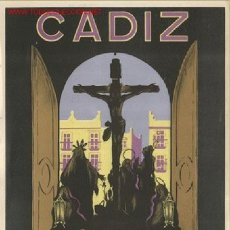 Carteles de Semana Santa: CARTEL Nº 43 SEMANA SANTA CADIZ 1947. Lote 26047609