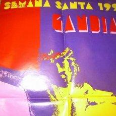 Carteles de Semana Santa: SEMANA SANTA GANDIA ( VALENCIA ). CARTEL 1.991. Lote 27203293
