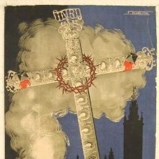 Carteles de Semana Santa: CARTEL SEMANA SANTA SEVILLA 1950 , ILUSTRADO POR F MARISCAL, LITOGRAFIA AA. Lote 24915062